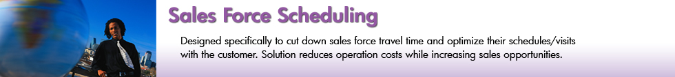 Sales Force Scheduling